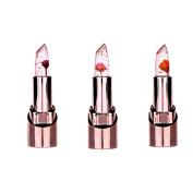 Spdoo 3pcs/set Jelly Flower Lipstick Lip Care Temperature Change Waterproof Long Lasting Moisturiser Lipstick