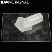 DANCINGNAIL DIY Nail Art Stamping Stamper Kit With Image Plate Scraper Manicure Tool Set White