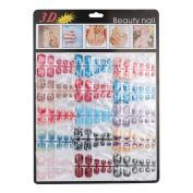 2016 Fake Nails!Elevin(TM)144pcs New Mixed Set False Nail Tips Artificial Fake Nails Art Acrylic Manicure Gel