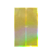 ALLYDREW Gold Nail Art Guide Large Nail Stencil Sheet - Checkers