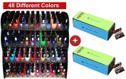 2 x COTU (R) 4 Way Nail Buffer Block with 48 Bottles of Kleancolor Awesome Trendy Nail Polish Combo Set