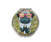 Betsey Johnson Gifting Doggy Pug Mirror Compact