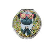 Betsey Johnson Gifting Doggy Pug Mirror Compact