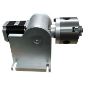 DIHORSE 3-Jaw Rotary Axis Rotary Attachment for Fibre Laser Marking Machine with 80mm Tailstock