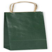 Forest Green Single Bottle Shoppers, 5 1/2x 3 0.6cm x 32cm