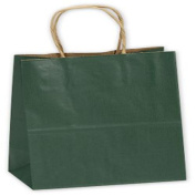 Forest Green Small Shoppers, 8 x 4 3/4 x 10 1/2