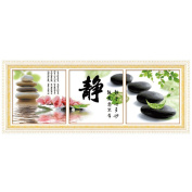 Chinese Character Jing 3D Stamped Cross Stitch Kit - 140cm By 48cm