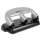 Accentra 2240 40-Sheet Traditional Three-Hole Punch, Rubber Base, Black/Silver