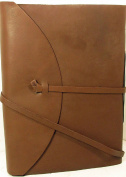 Barner Books Handmade 9 x 12 (A4) Legacy Leather Journal - Sketchbook Plain Acid Free Paper and Tie
