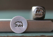 Brand New Supply Guy 6mm Grizzly Bear Metal Punch Design Stamp CH-142