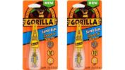 Gorilla Glue 7500102 Super Glue Brush and Nozzle 10g, Clear - 2 Pack