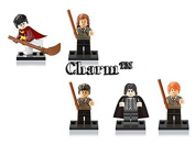 Harry Potter Set of 5 mini figures Harry Potter Hermione Quidditch Ron Snape (Generic) Lego compatible toy by CharmTM
