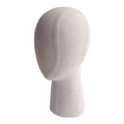 Kukin Fabric covered mannequin head, Abstract head models for hats display