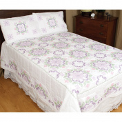 Stamped White Quilt Top -XX Colonial 770 282 supplier:stuff4crafting