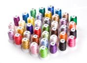 CR INDUSTRY 40 Assorted Colours Polyester Embroidery Machine Thread Set for Janome Brother Pfaff Babylock Singer Bernina Husqvaran Kenmore Juki Machines