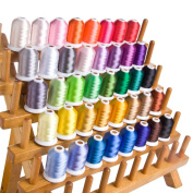 CR INDUSTRY 40 Assorted Colours Polyester Embroidery Machine Thread Set