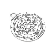 2pcs Silver Plated Talisman Pentacle of Solomon Seal Pendant