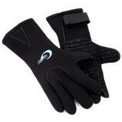 3mm Neoprene Unisex Adults Kids Swimming Diving Surfing Warm Waterproof Five Finger Gloves Wetsuit XXXS-XL Black