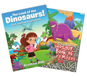 Dinosaur Activity Books Gift Set for Young Palaeontologists