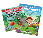 Dinosaur Puzzles Book Collection for Kids | Activity Book & Math Games for Kids