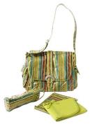 Kalencom Laminated Buckle Bag, Pretty Stripe Pistachio