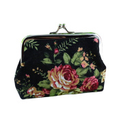 Bodhi2000® Womens Girls Retro Flower Coin Purse Hasp Wallet Clutch Bag Handbag