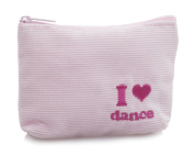 Girls Pink Coudroy Ballet I Love Dance Small Purse Gift Christmas Birthday By Katz Dancewear CP-60