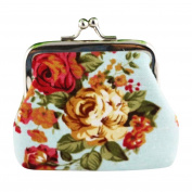 Printed Flower Purse, Rcool Women Girls Retro Small Wallet Hasp Coin Bag Clutch Bag