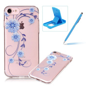 For iPhone 7 12cm [Perfect-Fit] Clear Case,For iPhone 7 12cm TPU Silicone Soft Gel Bumper Case Cover,Herzzer Fashion Stylish Ultra Slim [Colourful Printed] Full Protection Bumper Scratchproof Flexible Rubber Jelly Protective Back Cover Case for ..