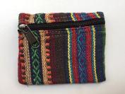 NWT Rainbow Coin Change Purse From Nepal Zip Pouch Waller Hippy Ethnic Rainbow