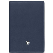 Montblanc Business Card Case, Marine Blue (Blue) - 114554