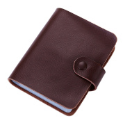 Boshiho Leather Credit Card Holder Business Card Case Organiser 60 Count Name ID Card Holder Book