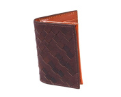 SAGEBROWN Expandable Woven Business Card Case