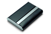 Black Leather Modern Business Card Case