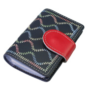 kilofly Business Credit Card Holder - Retro Book Style with 26 Card Pockets