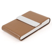 Sourcingmap Magnetic Closure Flap Business Card Storage Case - Brown