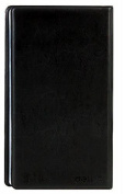 Leather Business Journal Name Card Book Holder for 180 cards, Black