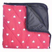 Baby Play Mat with Waterproof Backing - Red Heart