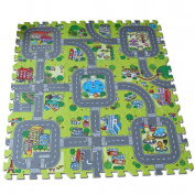 "Meitoku Baby play Puzzle Floor mat,9pcs/bag,Each piece=12x12cm Thick 3/8"""