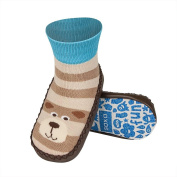 Slippers for Baby boy SOXO Multicoloured mocassin Leather sole