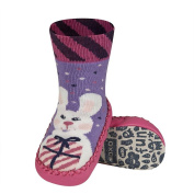 Slippers for Baby girl SOXO Multicoloured mocassin Leather sole