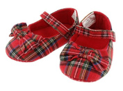 Girls Royal Stewart Tartan Shoes with Bow by Glen Appin - BT1554