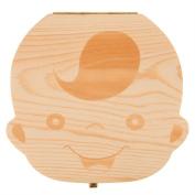 Baby Teeth Box, Binky Cute Personality Tooth Fairy Wooden Boxes Organiser Deciduous Souvenir Box, Milk Teeth Wood Case Storage Keepsake, Great Baby Shower Gift