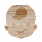 ZackX Wooden Teeth boxes for Boys / Girls, Milk Teeth Organiser For Bay Deciduous Teeth Storage As Keepsake Souvenir