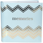 Malden International Designs Sentiments Memories with Memo Photo Opening Cover with Gold Foil Accents Brag Book, 2-Up, 160-4x6, White
