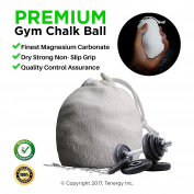 Gym Chalk Ball 56 Grammes for Strong Grip High-volume Workouts Rock Climbing Bouldering Crossfit Gymnastics Olympic Lifting Pole Dancing Weightlifitng Made of Durable Mesh Bag with Cord Lock Refillable