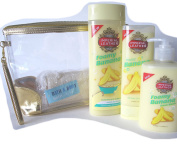 My Mum's Bananas' Gift Tote with Cussons Banana Wash Selection with Natural Loofah