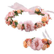 Women's Headband, Brisky Girls' Wedding Hair Accessories Wrist Flower Garland Seaside Holiday Pictures