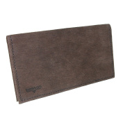 Boston Leather Textured Bark Leather Chequebook Cover