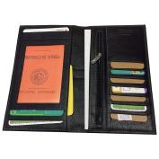 Vanity Case - Soft All In One, Chequebook Holder, Business Card Holder, Wallet, Cow Leather in Black 01